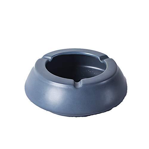 Yuzhijie Cenicero nórdico ins humos para el hogar sala de estar creativo grande cerámica Morandi moda simple resistente al viento cenicero, gris