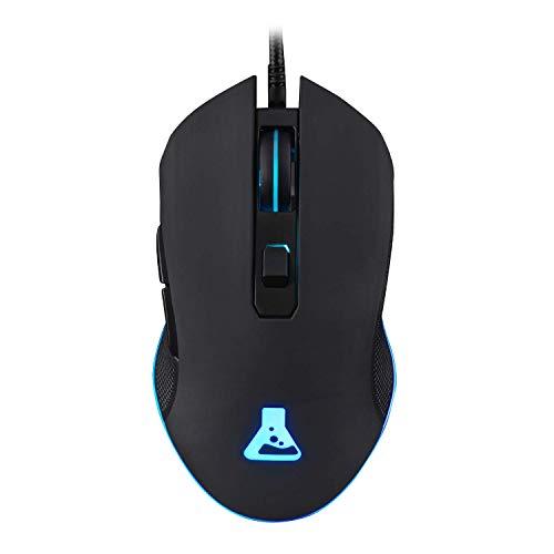 THE G-LAB - KULT-HELIUM - Mouse Gaming Retroilluminato - da 800 a 3200 DPI - 6 Tasti - Nero