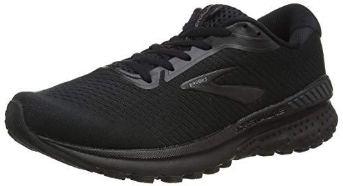Brooks Womens Adrenaline GTS 20 Running Shoe, Black/Grey, 42 EU
