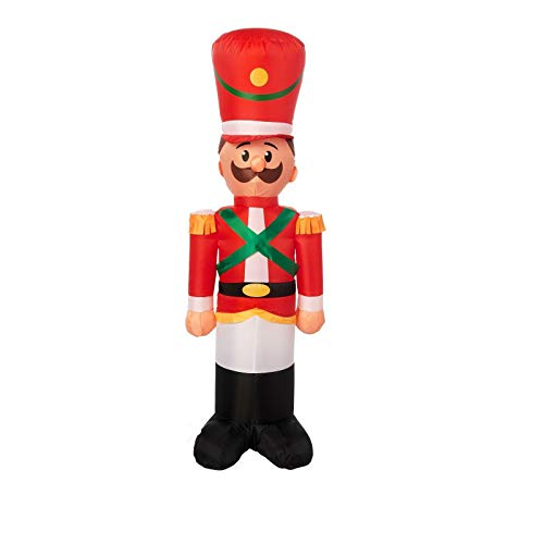 Gemmy Toy Soldier Airblown Inflatable 4 Foot Tall Christmas Yard Decoration Indoor Outdoor