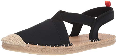 Sea Star Beachwear Women's Neoprene Seafarer Slingback Sandal, Water-Friendly and Quick Drying Black 8
