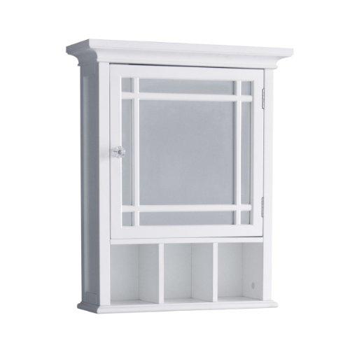 Elegant Home Fashions Neal Bathroom Cabinet, One Size, White
