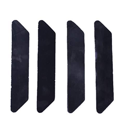 Teppich-Greifer, 8 Stück rutschfeste Teppich-Stopper, wiederverwendbares Teppich-Klebeband, Anti-Rutsch-Teppich-Unterlage für Teppiche, Holzböden, Teppich-Aufkleber, Anti-Rutsch-Unterlage Schwarz