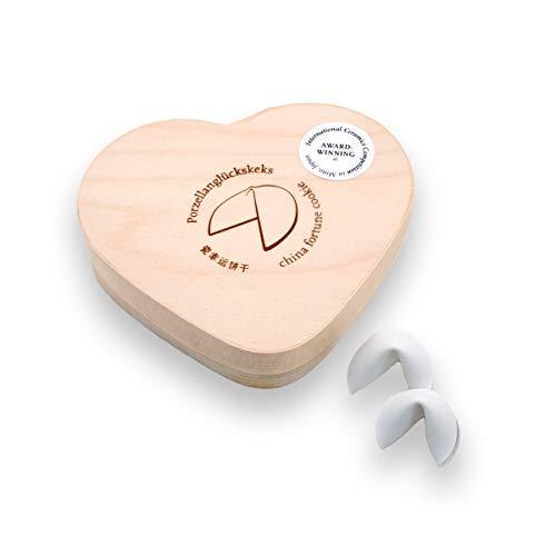 morphorm Porzellan Glückskekse · 2 STK in der Mini-Version · für eigene Glückssprüche Glücksbotschaften · für Hochzeiten, Verlobungen