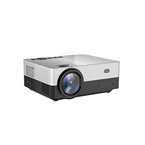 KIUY Proyector Bluetooth, proyector Nativo Full HD Casa inalámbrica portátil y proyector de Video al Aire Libre Adecuado para el Dormitorio al Aire Libre del baño del pie del Hotel