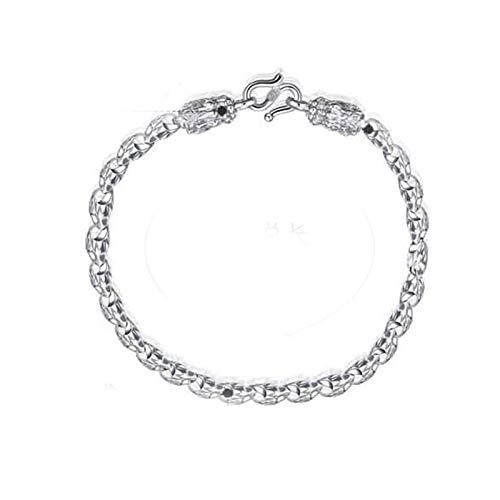 Beglie 925 Sterling Silber Herren Armband Drachenkopf Armreif Armbänder Punk Armband Silber 12,4 G