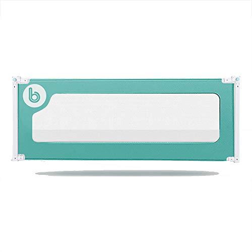Barrières de lit LHA Baby Child Bed Clôture Vertical Lift No Touch Table de Chevet Utilisation de la Peau Intime Plus assurée -150cm, 180cm, 200cm (Couleur : Green, Taille : L-150cm)