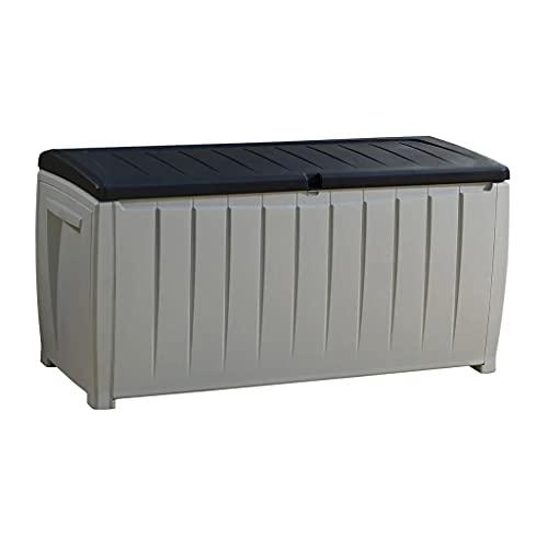Keter Garden Storage Box Novel 340L Outdoor Entryway Trunk Chest Bench Box