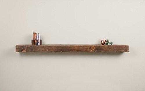 dark wood fireplace mantel - 8
