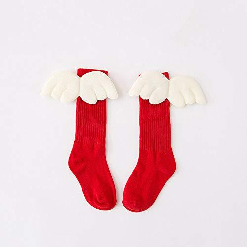 B/H Baumwolle,Sportsocken baumwollsocken,Kindersocken, Engelsflügel, Sockenhaufen - 5 Paar rot_7-10