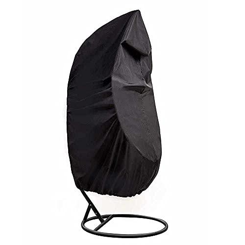 LHJCN Fundas para sillas Columpios Tela Oxford 210D Impermeable con Forro de PVC, Funda para sillas para Colgar en el Patio, Funda para sillas con Forma de Huevo para terraza con Bolsa de almacena