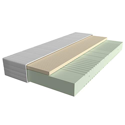 AM Qualitätsmatratzen - Latex-Matratze 90x200cm - H3 - Hochwertige Matratze mit 4cm Latex-Auflage - 20cm Höhe - Made in Germany