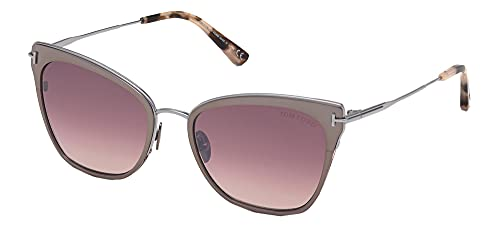 Tom Ford Gafas de Sol FARYN FT 0843 Shiny Dark Ruthenium/Burgundy 56/19/140 mujer