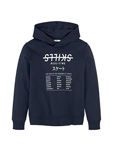TOM TAILOR Jungen Strick & Sweatshirts Hoodie mit Print Kids Dress Blue,152,27280,6000