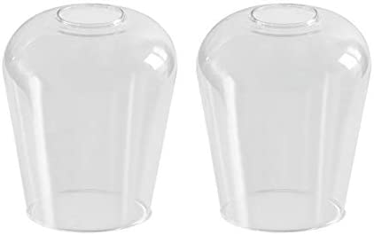 2 Pack Wine Glass Lamp Shade Clear Glass Cover Replacements for Lighting Fixtures Clear Glass product image
