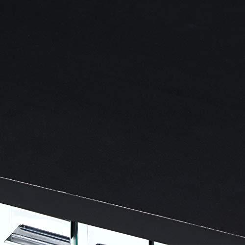 不二貿易コレクションケースフィギュアケース5段高さ134cmブラック背面ミラー強化ガラスディスプレイ98883