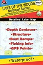 Lake of the Woods, Northeast Section Fishing Map (Canadian Series)