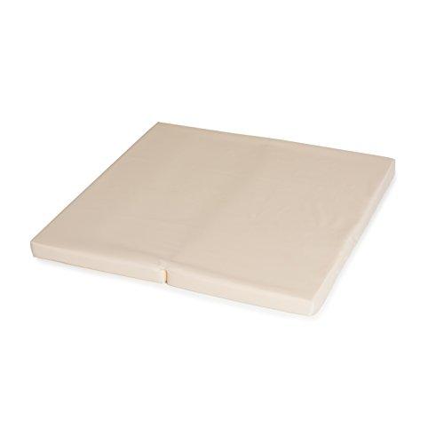 Hauck Sleeper SQ 90 x 90 cm, colchón para cuna de viaje y cuna parqué, colchón de espuma 5cm de grossor, plegable por la mitad, incluida bolsa de transporte, apto para cuna hauck SQ, Beige