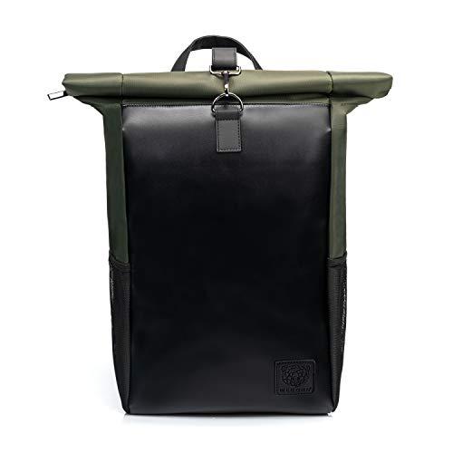 WLDOHO® Roll Top Rucksack mit robustem Metall Karabiner I Durchdacht mit Laptopfach für...