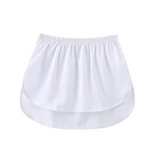 Women Layered Tiered Sheer Stripe Printing Extender Half Slip Plus Size Skirt