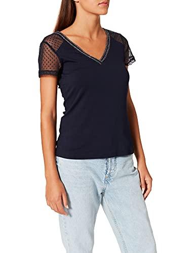 Morgan T-Shirt 212-DUCHY Camiseta, Azul Marino, XL para Mujer