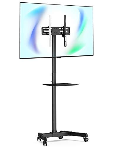 """FITUEYES Mobile TV Cart Display TV-Ständer mit Regalen für 23""""bis 55"""" Hält 35 kg Kippbare Höhe einstellbar max. VESA 400x400mm TC-R12MB"""