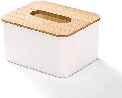 Caja de pañuelos de almacenamiento Decoración de almacenamiento Caja de tejido europeo Sala de estar creativa Escritorio de café de plástico de madera de plástico de madera sólida Bandeja simple 17x13