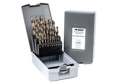 BAER HSSE Extrem-Bohrer Satz (0,5mm steigend) 1-13 mm - Spiralbohrer aus hochlegiertem HSSE/Cobalt Stahl | Spiralbohrer Set | Spiralbohrersatz