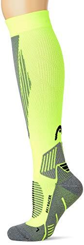 Head Racer Kneehigh Ski Socks (1 Pack) Calcetines de esquí, Amarillo Flúor, 35/38 Unisex Adulto