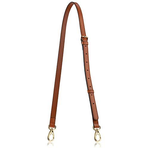 Allzedream Genuine Leather Purse Strap Replacement Crossbody Handbag Long Adjustable (Brown)