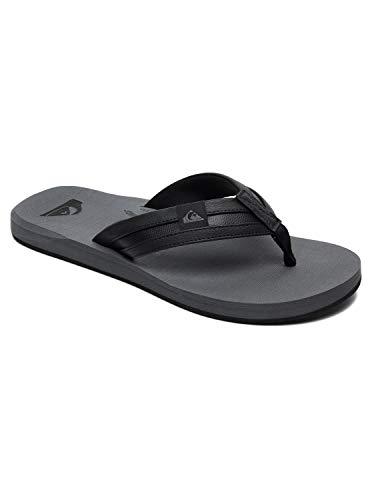 Quiksilver Herren Carver Squish - Sandals for Men Flip-Flop, Black/Grey/Black, 44 EU