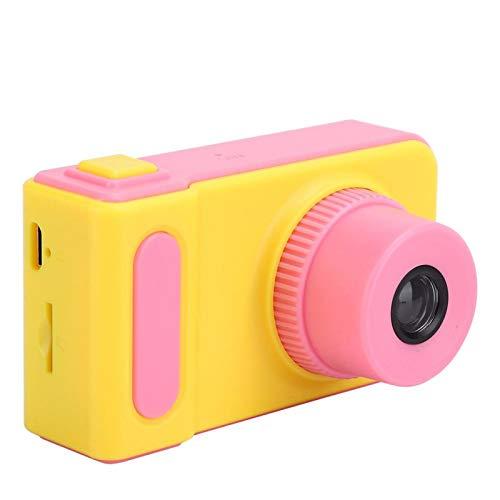 Goshyda Mini Juguete de la cámara de Video DSLR de Deportes Digitales USB para niños, Mini cámara Digital de Dibujos Animados portátil con Ranura para Tarjeta de Memoria(Rosa)