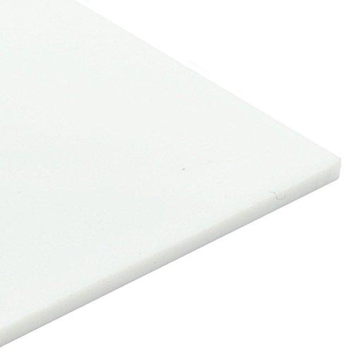 Lámina transparente de metacrilato, de plástico acrílico, color blanco mate, 3 mm., Blanco, 420mm x 297mm / A3