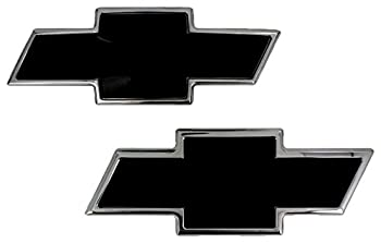 All Sales 96106KP Ami Chevy Bowtie Grille and Tailgate Emblem Black  Pack of 2