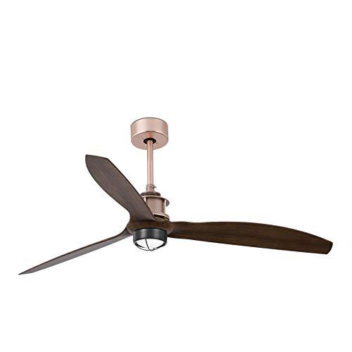 Faro Barcelona 33399-10- JUST FAN LED Ventilador de techo cobre/madera con motor DC