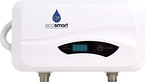 Ecosmart POU 6 Point of Use Electric Tankless Water Heater, 6 KW,White,1/20, 1/40, 1/95