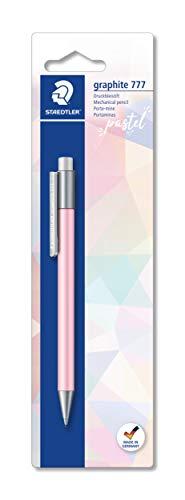 STAEDTLER Matita portamine graphite 777 in colori pastello, per scrivere, con fusto gommato e guida anti-rottura, alta qualità Made in Germany, 1 pezzo su blister, 777 05BKPA