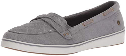 Grasshoppers Women s Windham Suede Boat Shoe Gray 5.5 W US