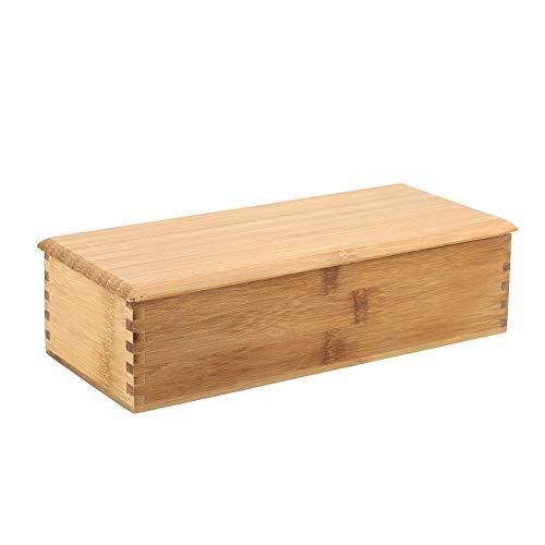 Vaisselle Torage Box, Matériaux Naturels Couverts Organisateur Baguettes Cuillère Boîte Cage Bambou Conteneur De Stockage, Exquis et Durable