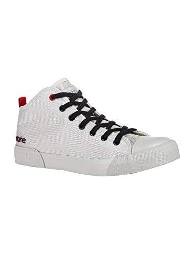 Ombre Zapatillas deportivas para hombre, tallas 40 – 45, altura hasta el tobillo, estilo urbano, puntera de goma, aspecto de lona, diseño de lona