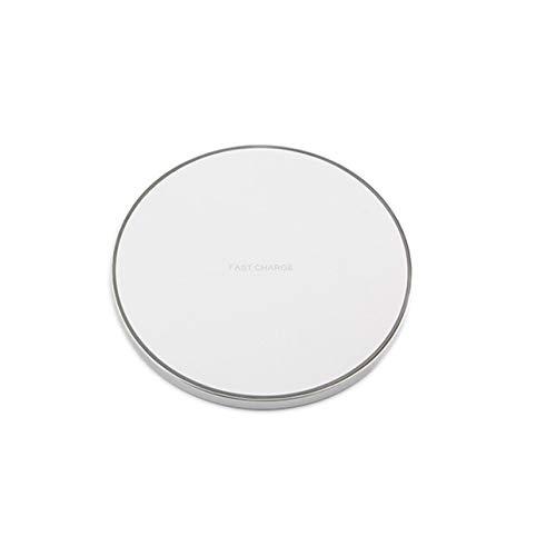 Cargador inalámbrico Almohadilla de Carga Ultrafino Antideslizante para teléfonos Inteligentes Otros Dispositivos habilitados Portátil Ultra-Slim-Silver GY-6812W 1 tamaño