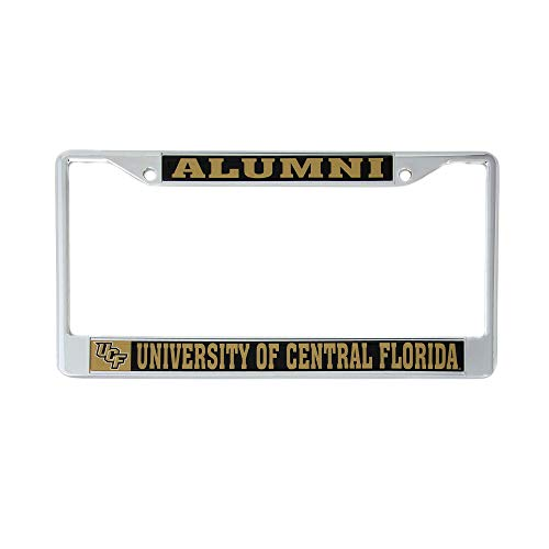 University of Central Florida UCF Knights Metal License Plate Frame for Front or Back of Car Officially Licensed (Alumni) C