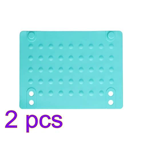 Lurrose 2 stücke Silikon Isoliermatte Hitzebeständige Proof Matte Isolierung Pad rutschfeste Lagerung Pad für Lockenwickler Haarglätter (blau)