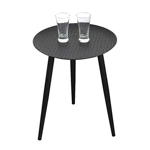 Table d'appoint de Style Plateau en Fer forgé Ronde Petit café détachable Support de Fleurs en Fer forgé Table de Chevet Multi-Fonction terrasse