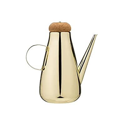 Creative Co-op Gold Electroplated Stainless Steel Oil Cruet with Cork Lid Serveware