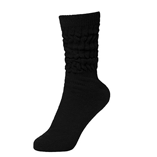 Brubaker Unisex Slouch Socken für Fitness Workout Yoga Gymnastik Wellness Schwarz Gr. 39/42
