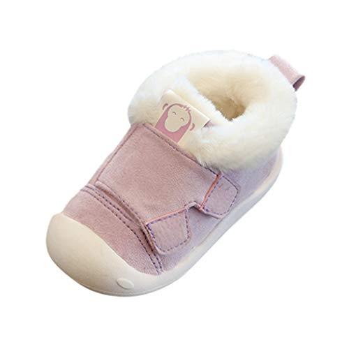 Alwayswin Winter Plus Samt Warme Babyschuhe Kleinkind Jungen Mädchen Winter Lauflernschuhe Plüsch Erste Schuhe Mode Kleine Kinder Booties Bequeme rutschfest Baumwolle Schuhe