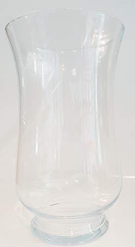 Vase große Glasvase klarglas Bodenvase Blumenvase, Windlicht mundgeblasen Kristallglas Höhe 40 cm, große Öffnung ca. 22 cm Oberstdorfer Glashütte