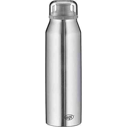alfi Thermosflasche 500ml, isoBottle, Trinkflasche kohlensäurefest, Isolierflasche Edelstahl Pure auslaufsicher, Wasserflasche 5677.206.050, Thermoskanne 12 Stunden heiß, 24 Stunden kalt, BPA Frei