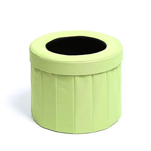 JXHD Tragbare Zusammenklappbare Auto-Toilette/Fahrzeug-Urin-Tasche - Verwendbar Für Not Im Freien, Kampierend Und Schlafend, Auto-Reise, Schwangere Erbrechen,A-LightGreen